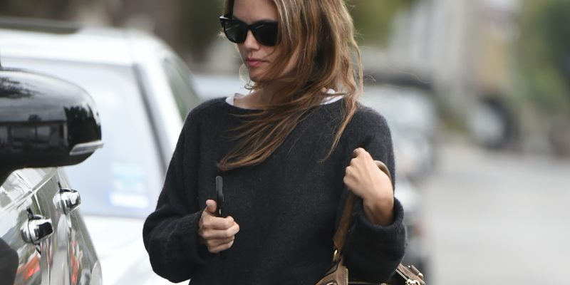 Rachel is seen going out for lunch in LA